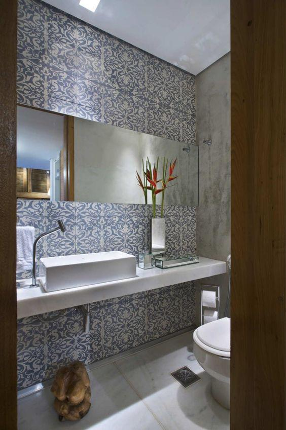 Mid Century Modern Bathroom Wallpaper
