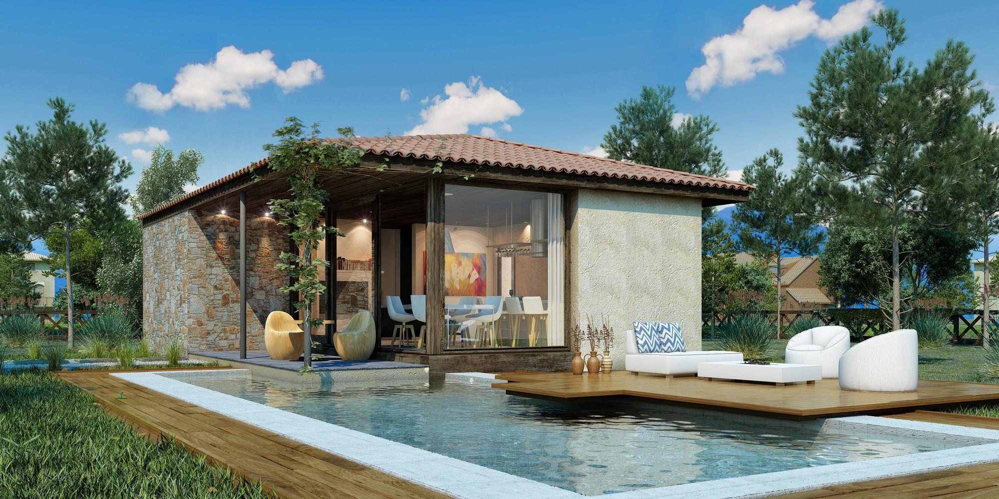 60 casas r sticas fachadas inspira es e fotos lindas for Modelos de piscinas de campo