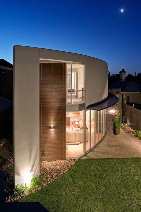 Projeto de uma casa em curva