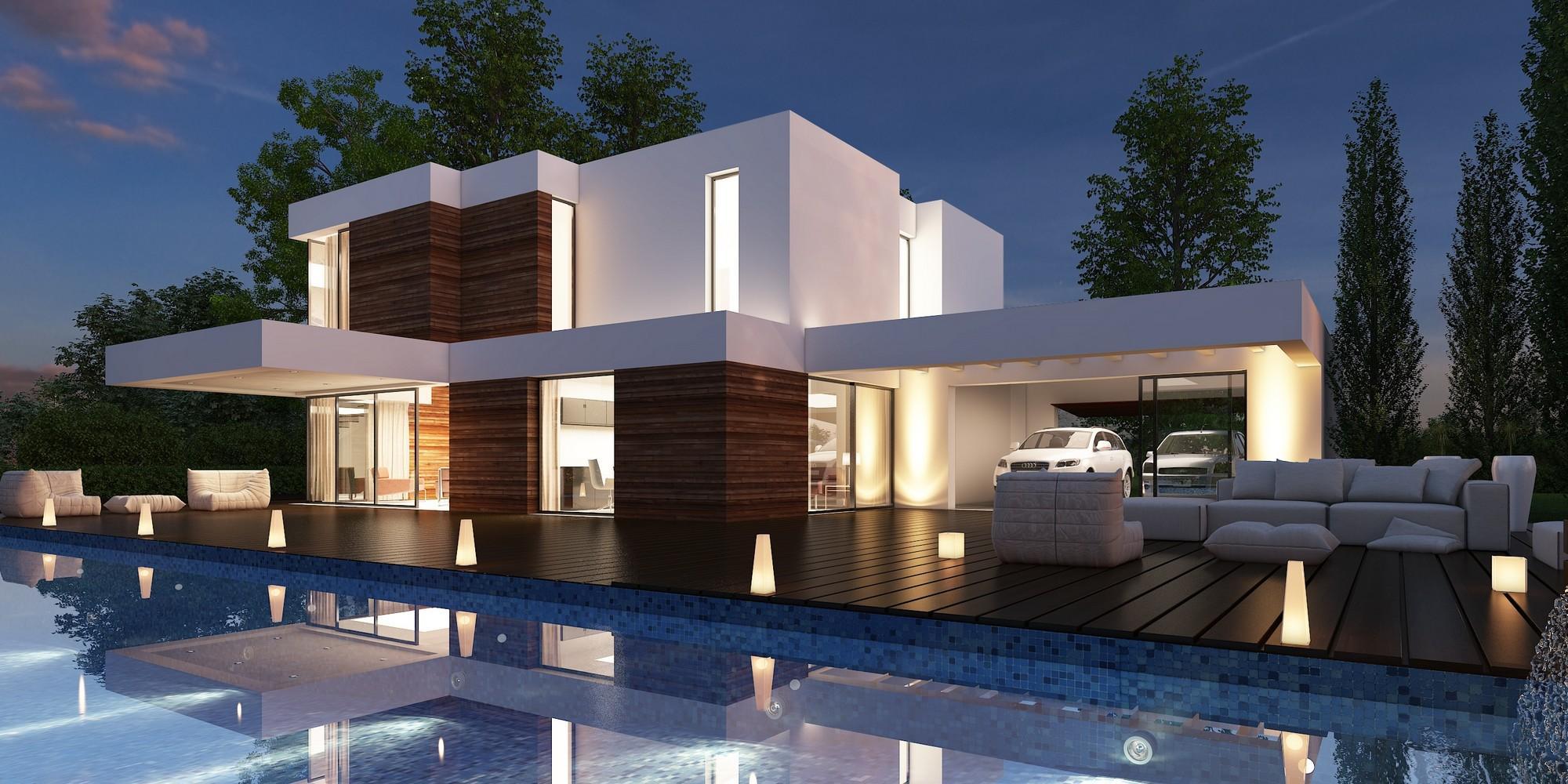 132 casas bonitas modernas fotos lindas for Casas modernas terreras