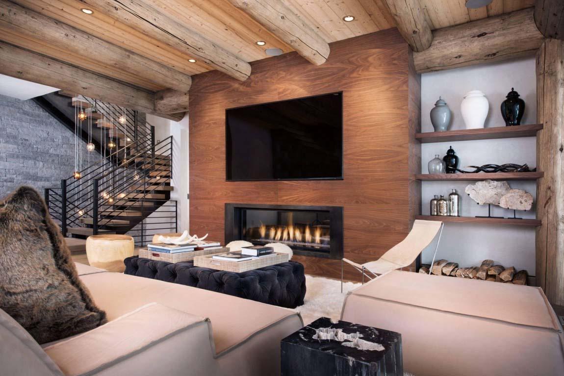 60 Casas R Sticas Fachadas Inspira Es E Fotos Lindas -> Casa Sala De Tv Sala De Jantar A Fazenda