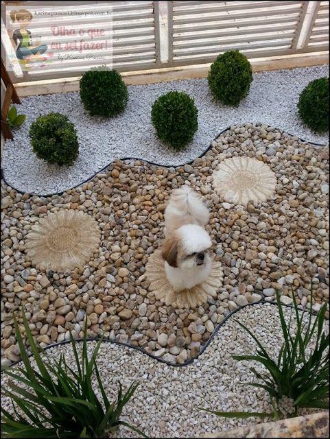 60+ Jardins com Pedras Decorativas Fotos Lindas # Decoração De Jardim Com Pedras Grandes
