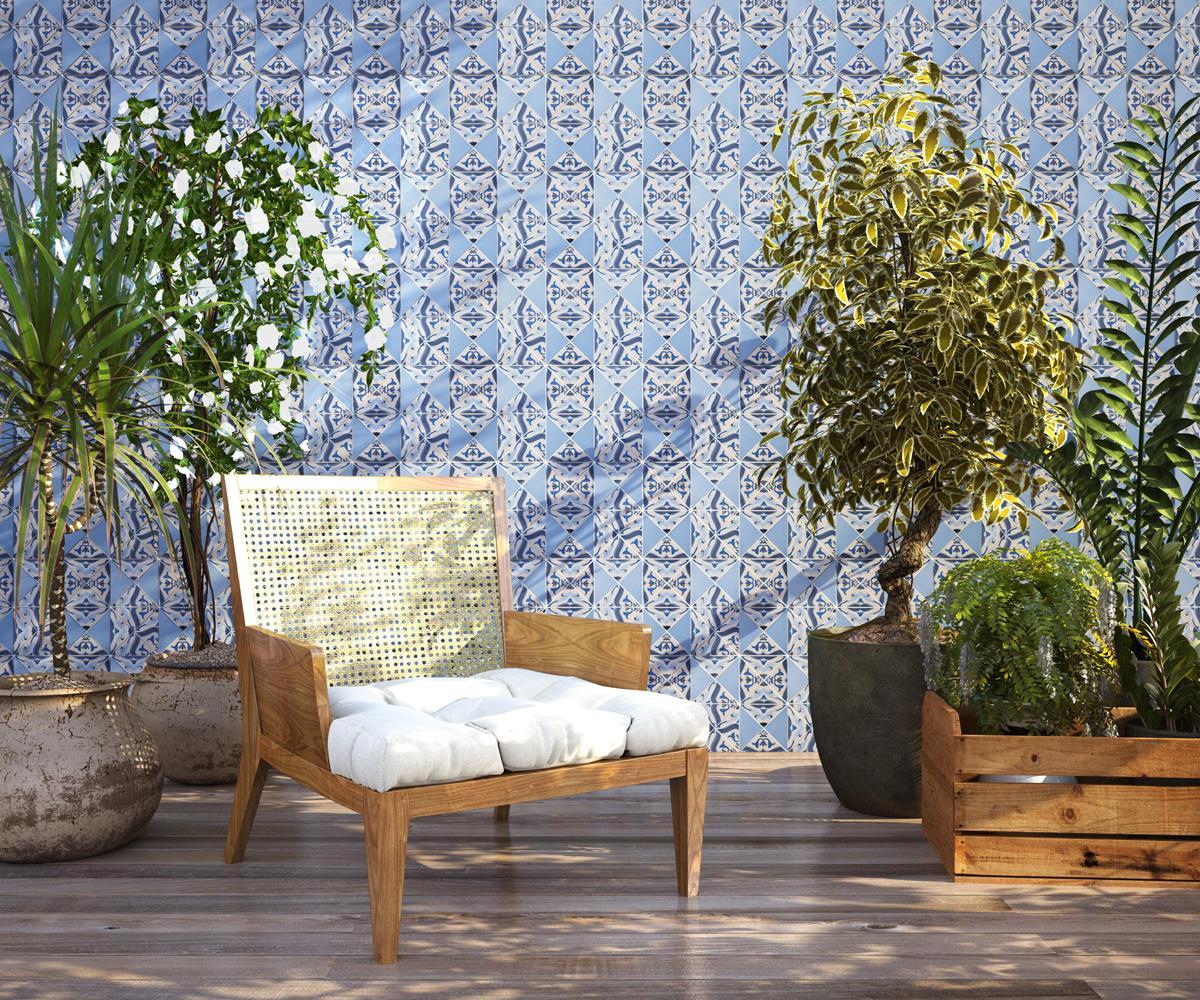 Imagem 35 – Armário com porcelanas aparentes para decorar sua sala  #495E2D 1200x1000 Banheiro Azulejo Portugues