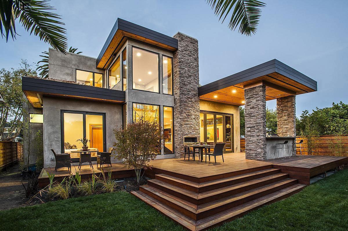 60 casas r sticas fachadas inspira es e fotos lindas for Casas modernas rusticas