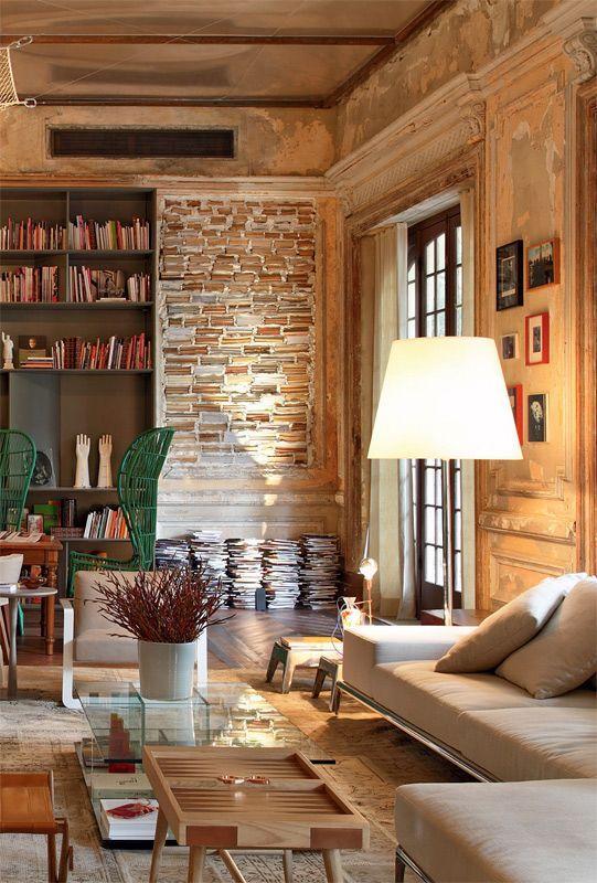 60 casas r sticas fachadas inspira es e fotos lindas - Fotos de salones rusticos ...