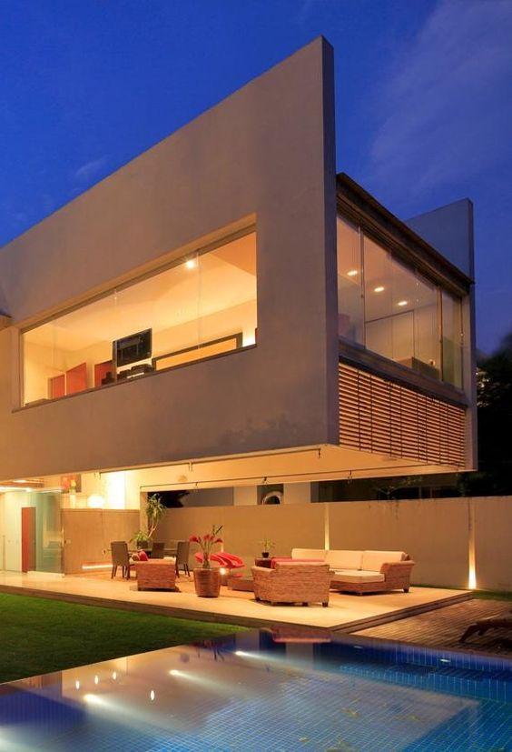 132 casas bonitas modernas fotos lindas for Casa modern