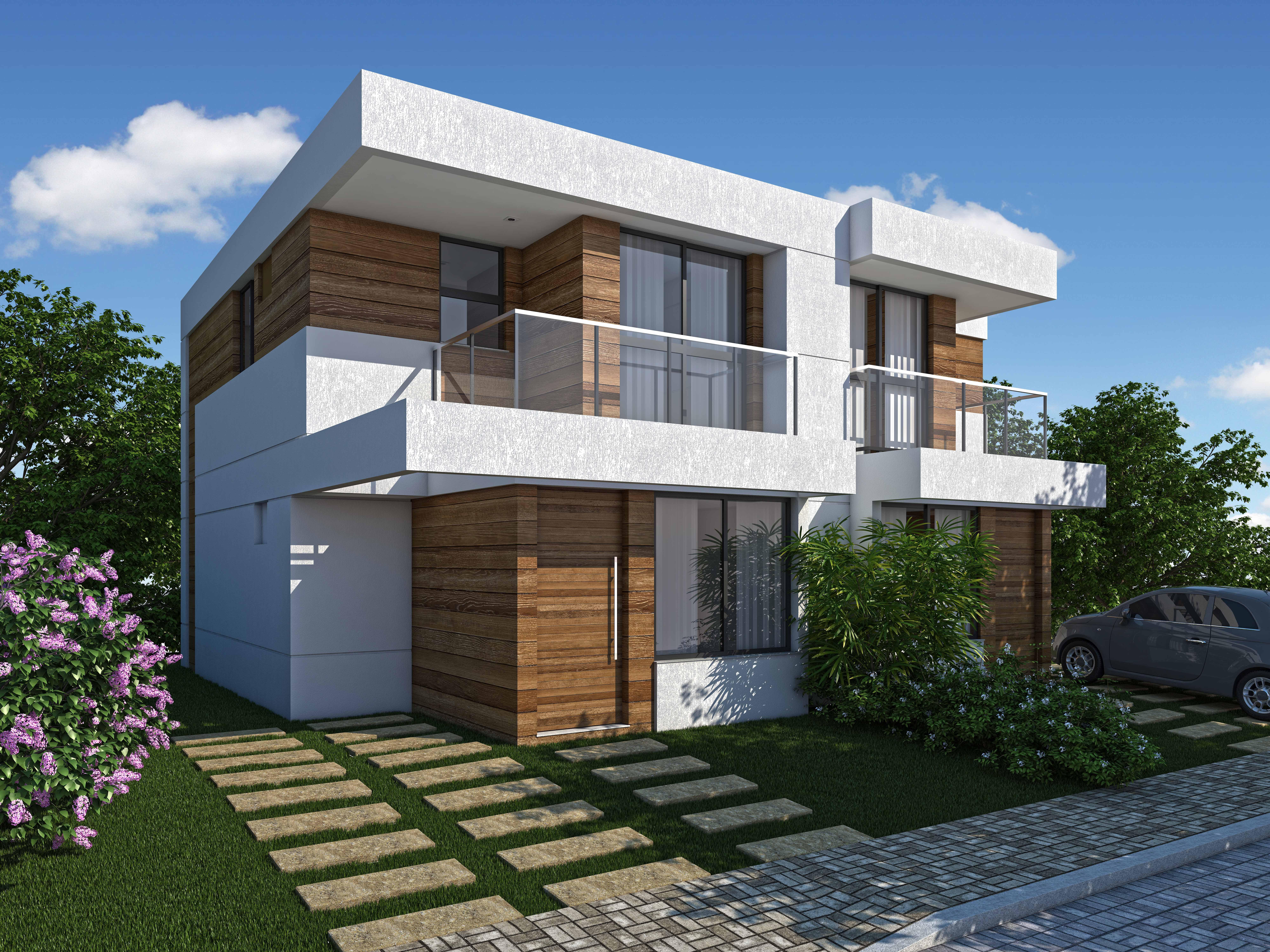 132 casas bonitas modernas fotos lindas for Modelos de casas fachadas fotos