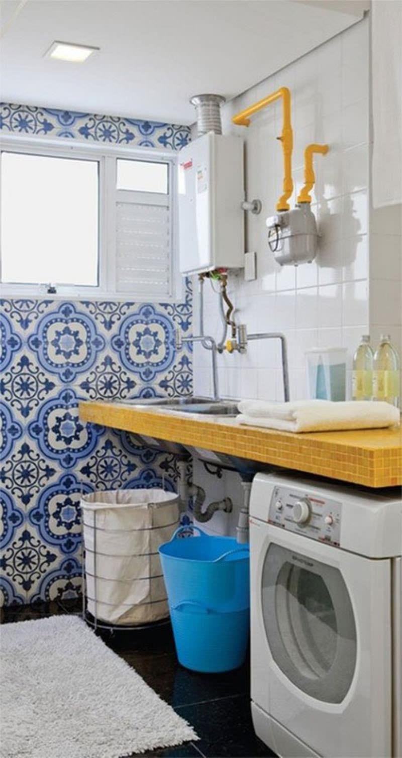 Azulejo portugu s na decora o 60 fotos inspiradoras - Fotos en azulejos ...