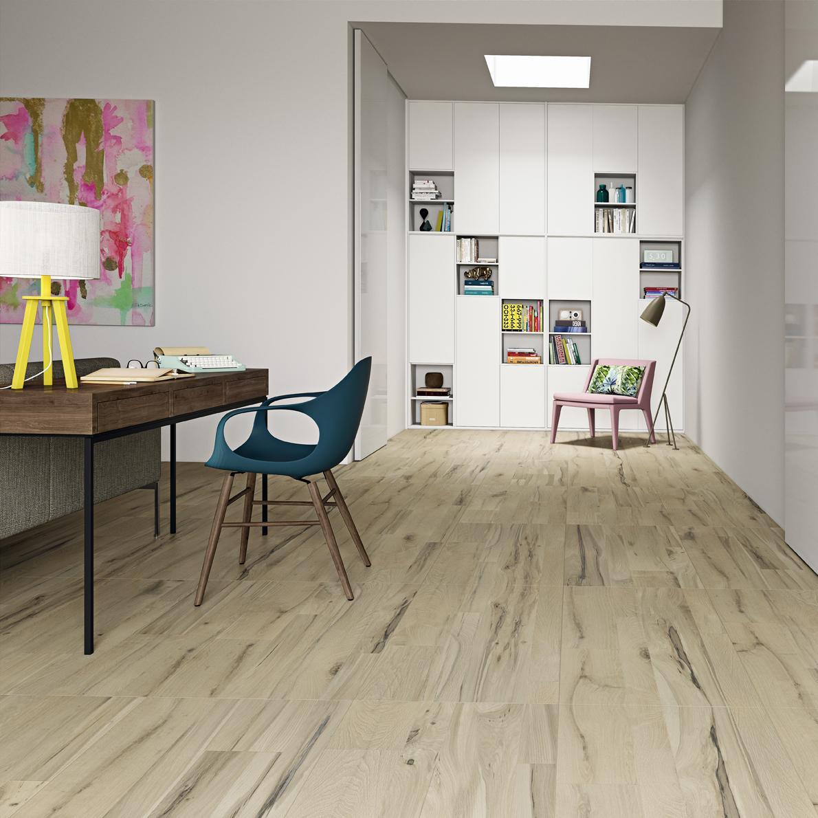 Imagem 54 – A escolha do piso mais claro deu mais amplitude no  #AEA11D 1190x1190 Acessórios Banheiro Madeira