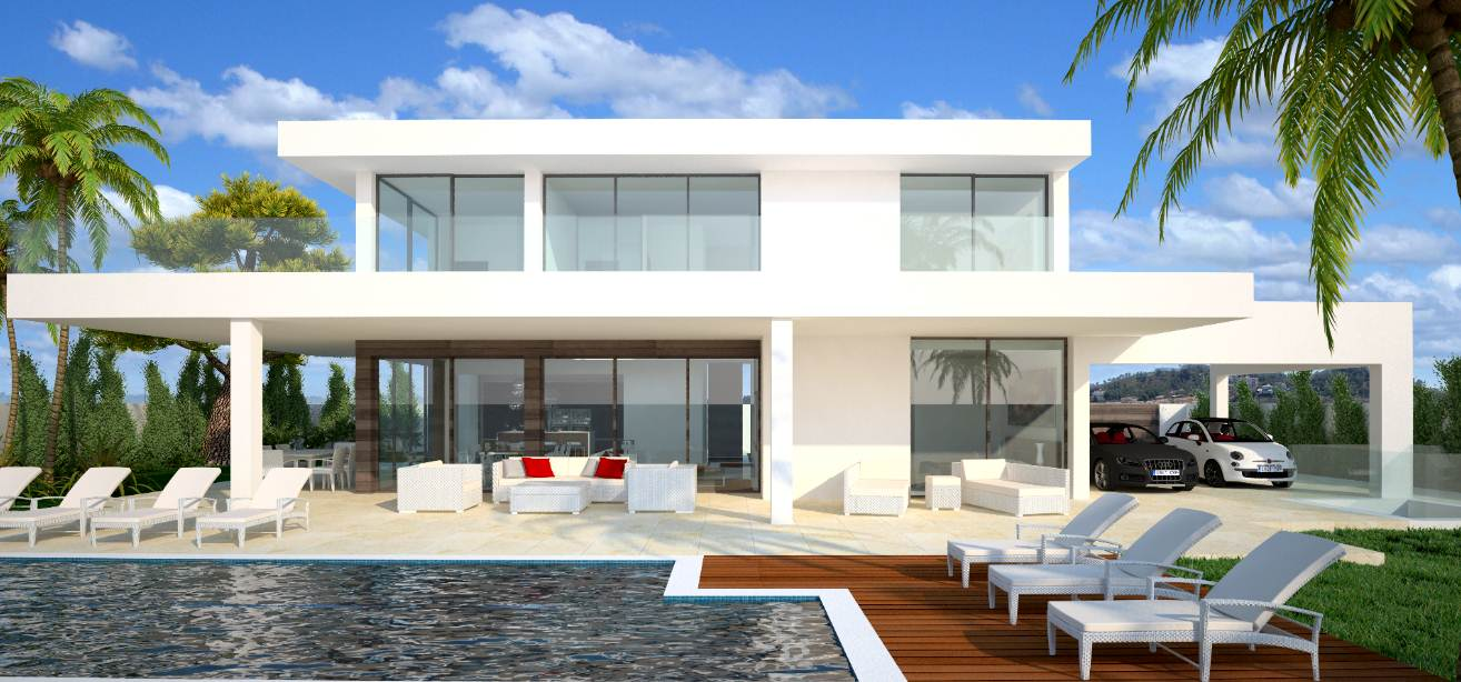 132 casas bonitas modernas fotos lindas for Piscinas modelos modernos