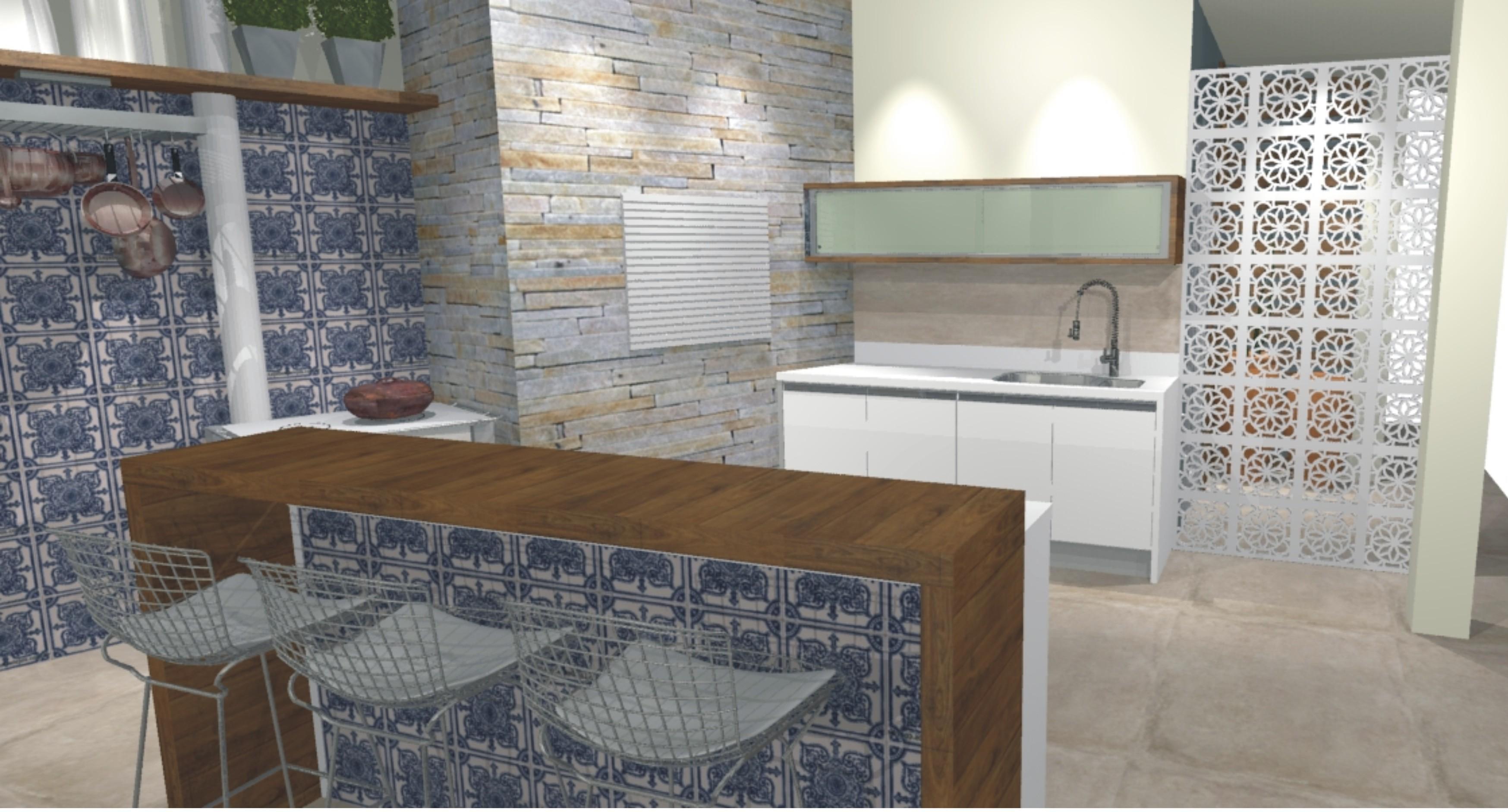 Imagem 60 – Para destacar o ambiente cubra a parede inteira com esse  #614934 3495x1883 Banheiro Azulejo Portugues