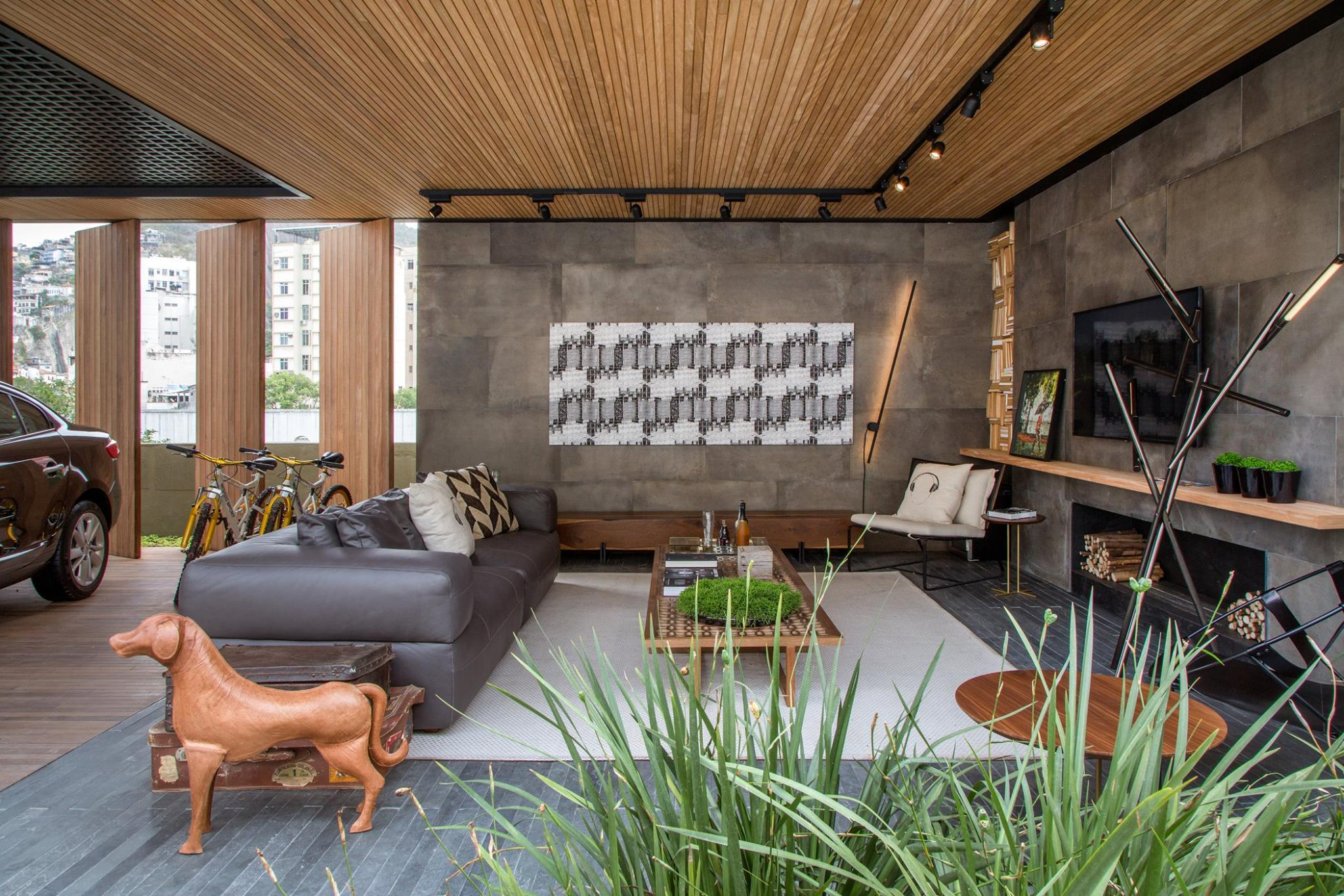 Projeto lindo de uma sala de estar!