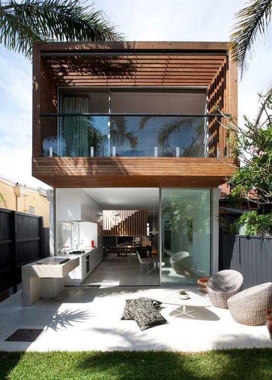 Casa bonita com pergolado
