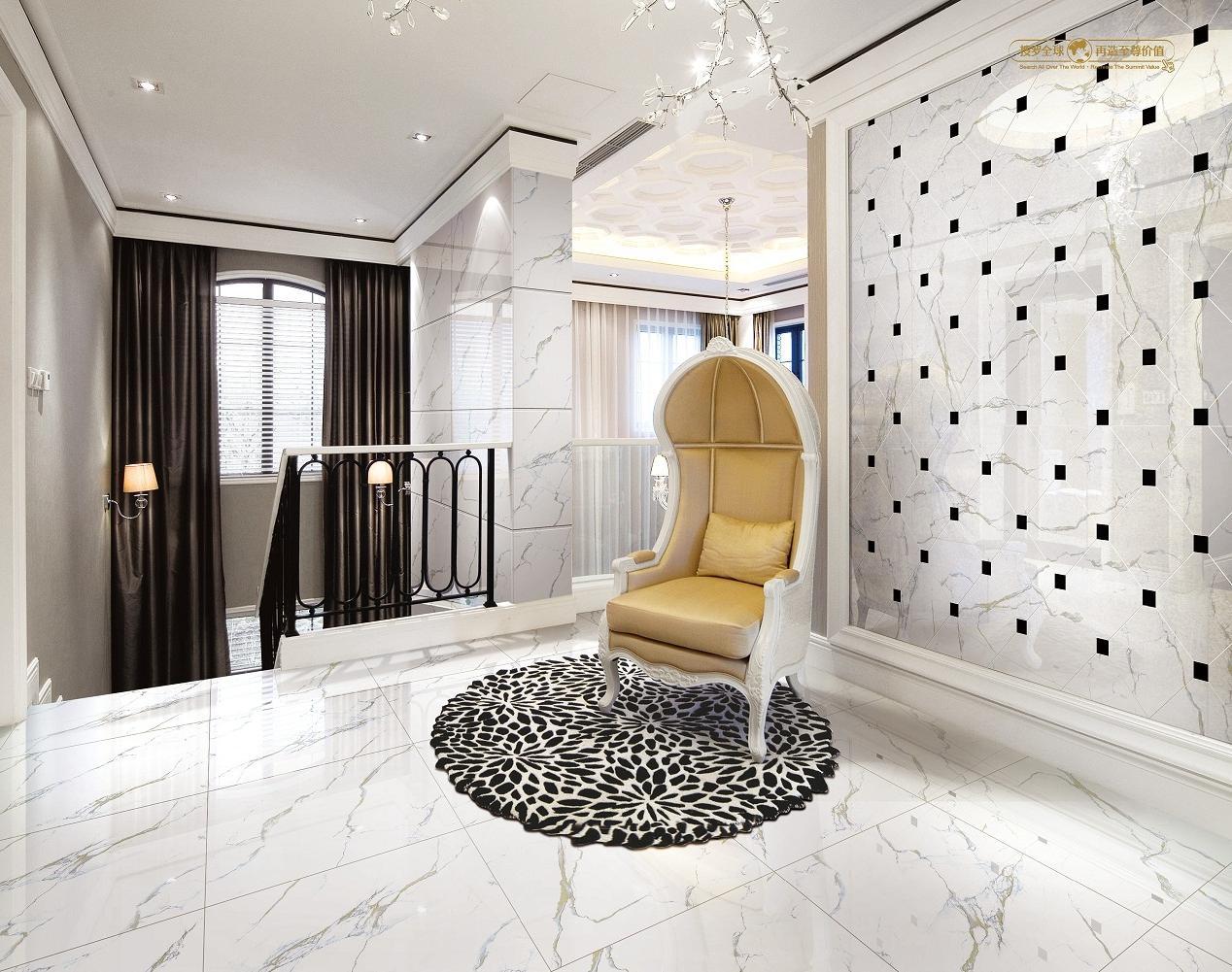 Pin Porcelanato Que Imita Mármore Instalado Facilmente Revestimento  #1F3563 1268x1001 Banheiro Com Porcelanato Carrara