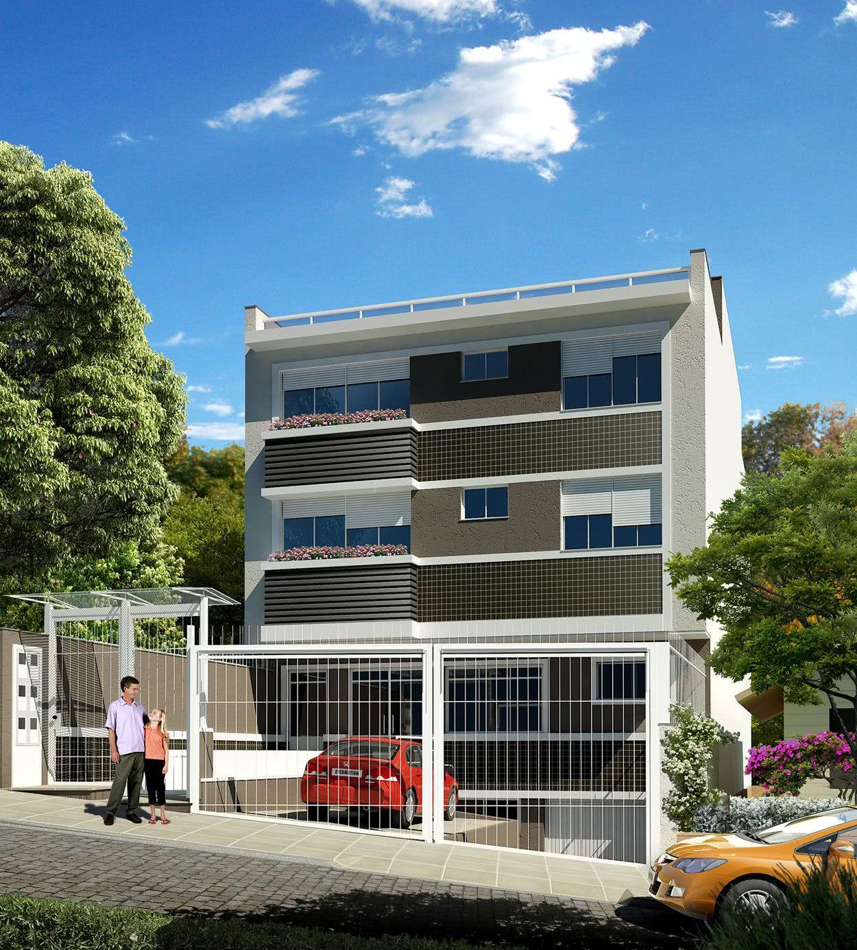 Portão simples para condomínio residencial.