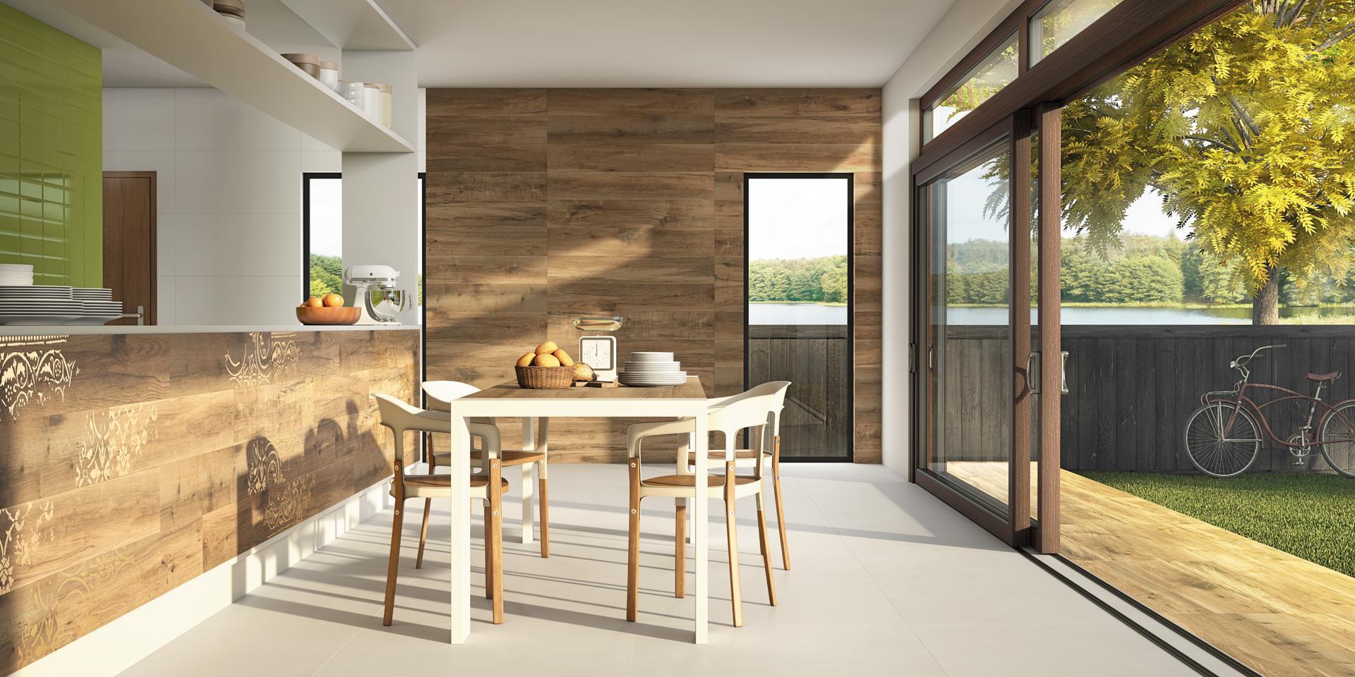 Imagem 28 – Composição de pisos: esmaltado e natural #A39628 1920x960 Banheiro Com Porcelanato Fosco