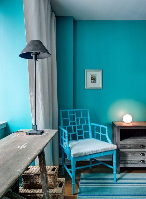 61 quartos azul turquesa tiffany fotos lindas - Color turquesa en paredes ...