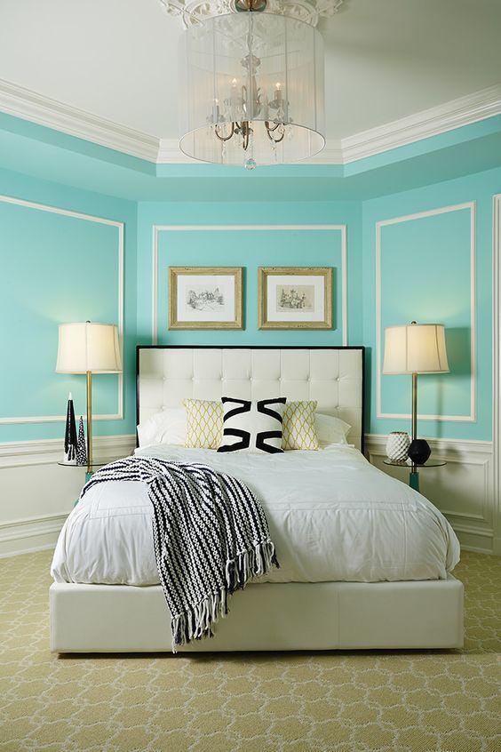 61+ Quartos Azul Turquesa Tiffany Fotos Lindas! ~ Quarto Pintado De Azul Turquesa