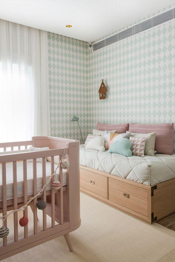 60+ Quartos de bebês verdes decorados – Fotos lindas  ~ Cores Para Quarto De Bebe Verde