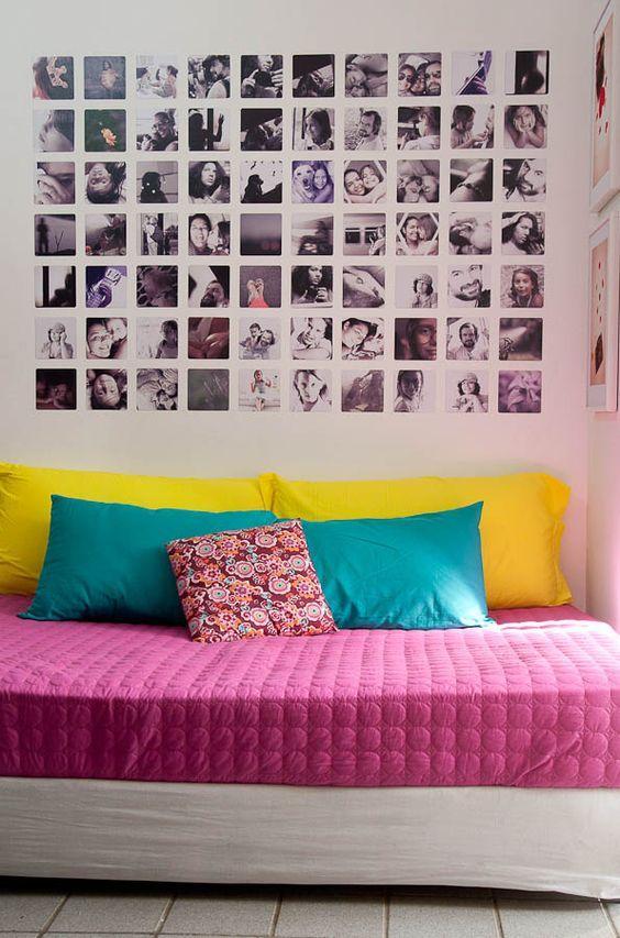 Decoraçao Com Foto ~ Mural de Fotos 60+ Inspirações na Decoraç u00e3o