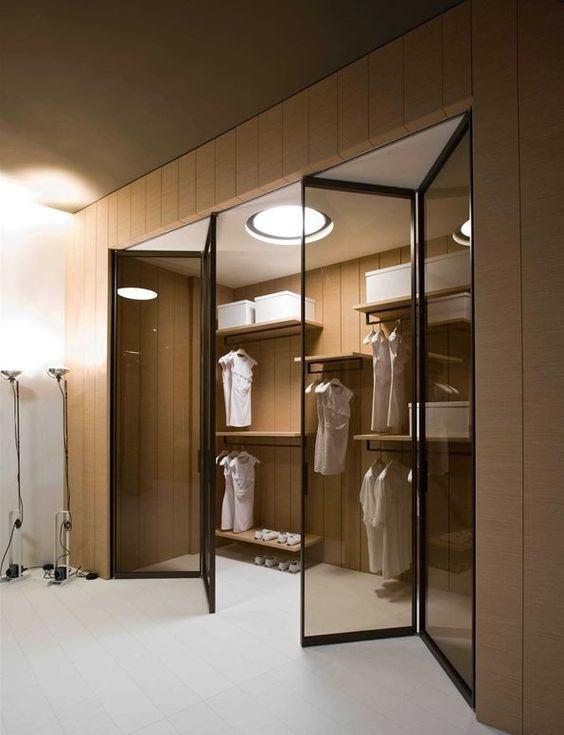 65 modelos de closets fotos ideias lindas for Modelos de walk in closet