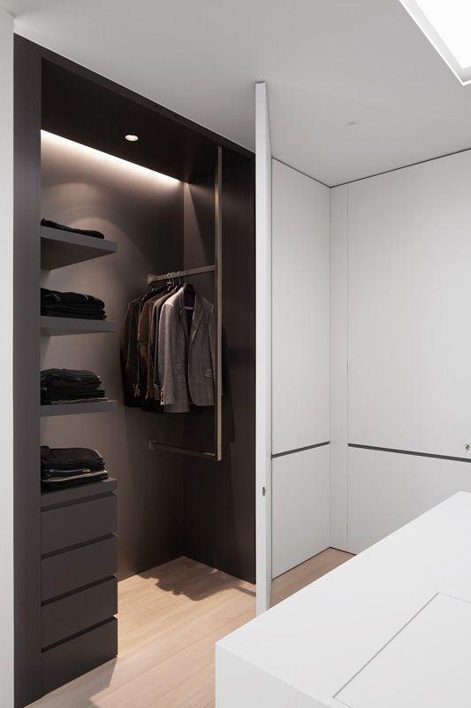 Embutido no armário