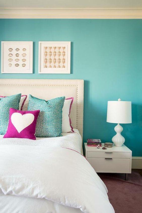 61+ Quartos Azul Turquesa Tiffany Fotos Lindas! ~ Quarto Rosa E Azul