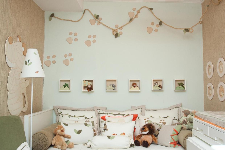 60+ Quartos de bebês verdes decorados – Fotos lindas  ~ Quarto Pintado De Verde Musgo