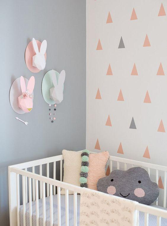 60+ Quartos de bebês verdes decorados – Fotos lindas  ~ Quarto Verde E Cinza