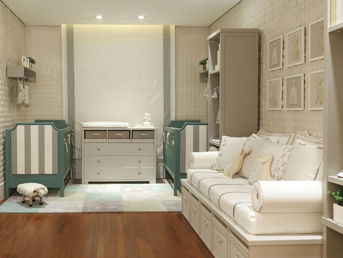 60+ Quartos de bebês verdes decorados – Fotos lindas  ~ Quarto Sala Moderno
