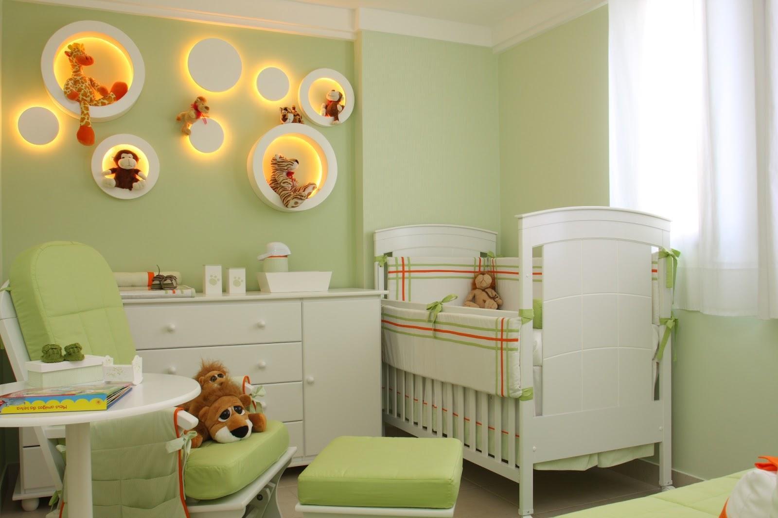 60 quartos de beb s verdes decorados fotos lindas - Paredes en verde ...