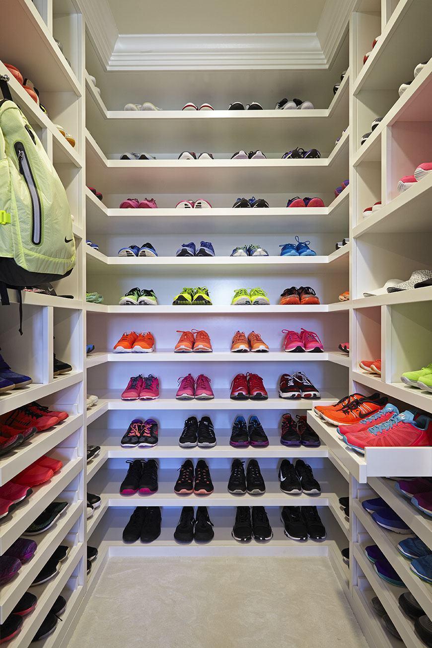 Para organizar os sapatos