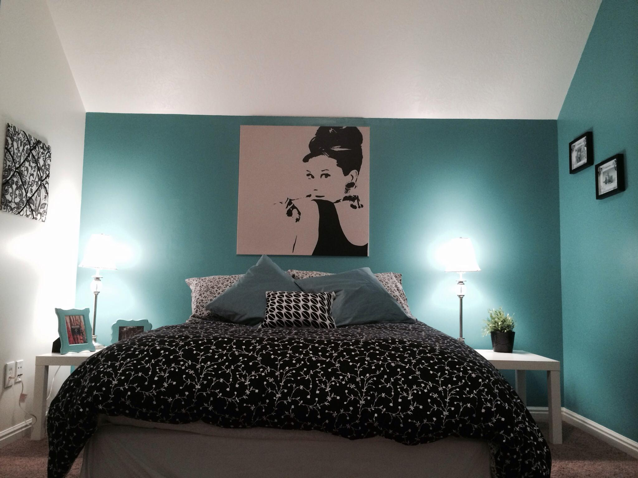 61 quartos azul turquesa tiffany fotos lindas - Entrancing images of blue and black bedroom decoration ideas ...