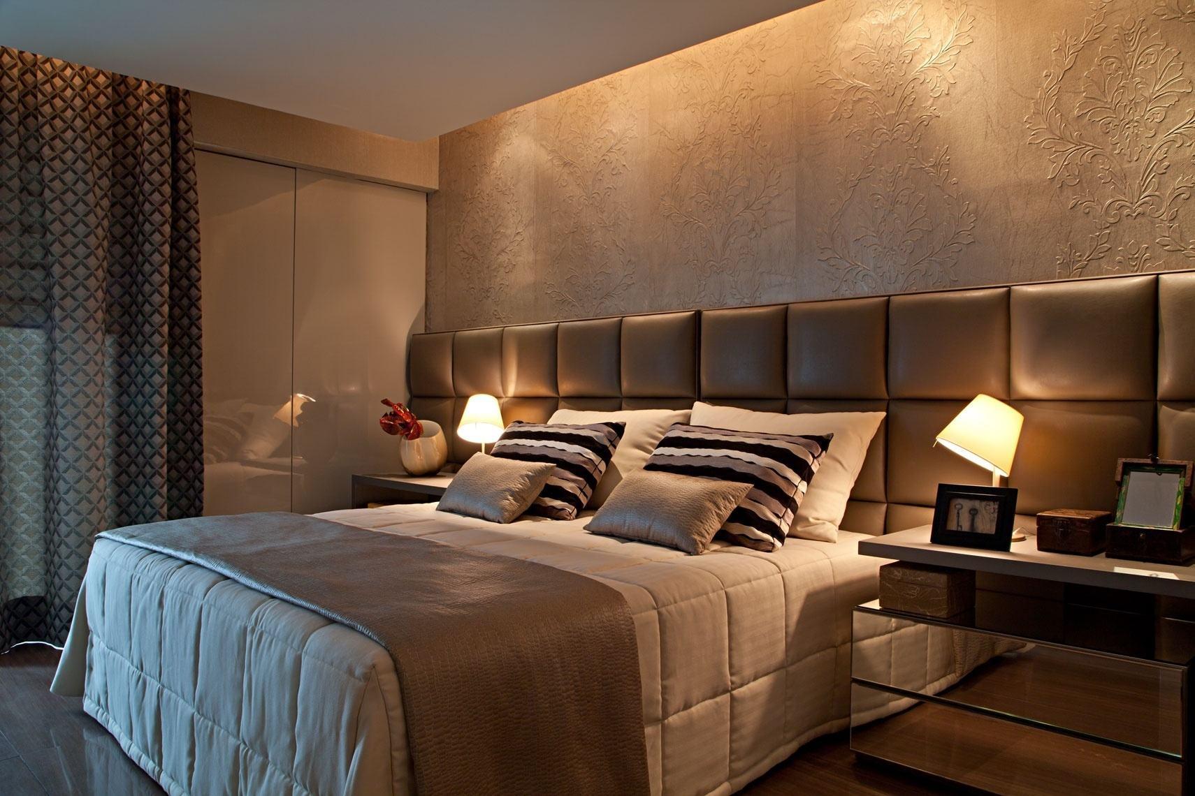 60 cabeceiras de cama estofadas modelos fotos for Modelos de cama