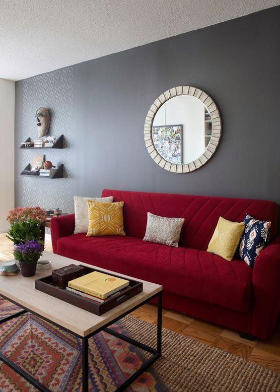 Imagem301 564×790  Casa De Campo  Pinterest  Living Enchanting Red Living Room Designs Decorating Inspiration