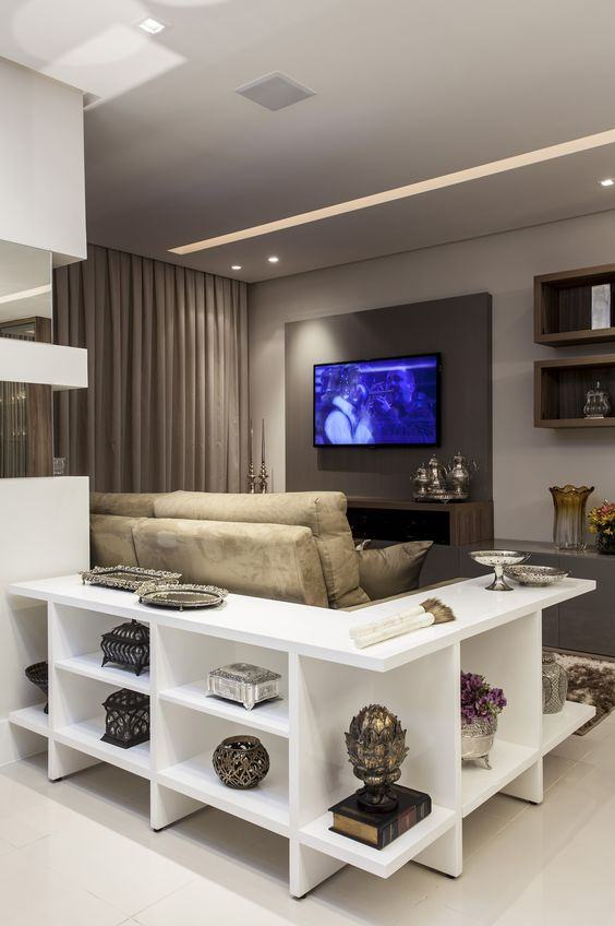 Decoraç u00e3o Atrás do Sofá 60 Aparadores, Bancadas e # Decoração Aparador Atras Do Sofa