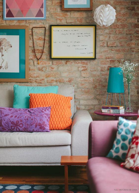60 modelos de almofadas decorativas fotos lindas - Pintura interior barata ...
