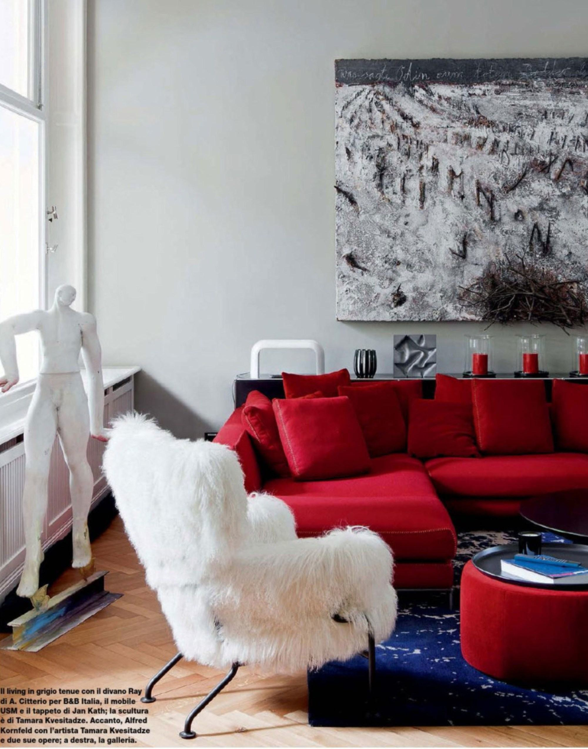 60 Salas Com Sof S Vermelhos Fotos Inspira Es