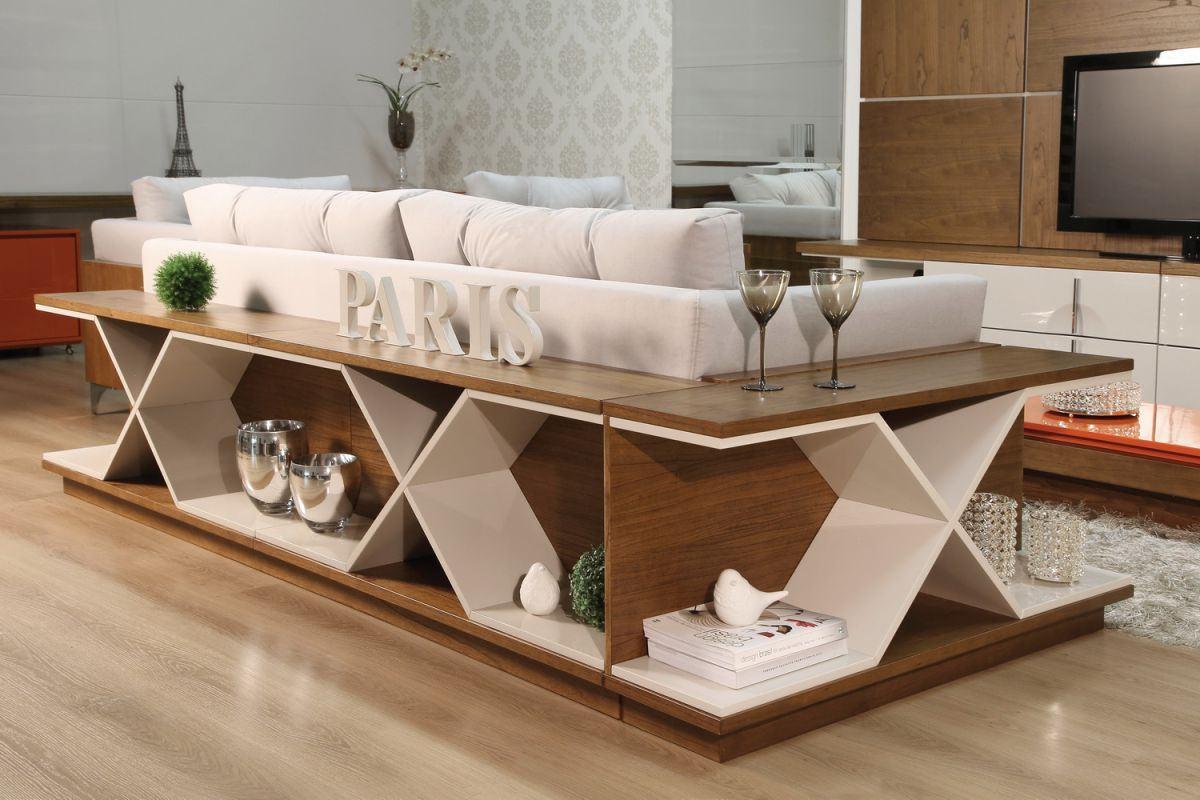 Decoraç u00e3o Atrás do Sofá 60 Aparadores, Bancadas e -> Decoração Aparador Atras Do Sofa