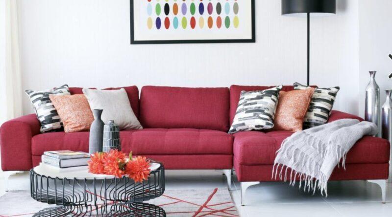 60 Salas com Sofás Vermelhos - Fotos & Inspirações