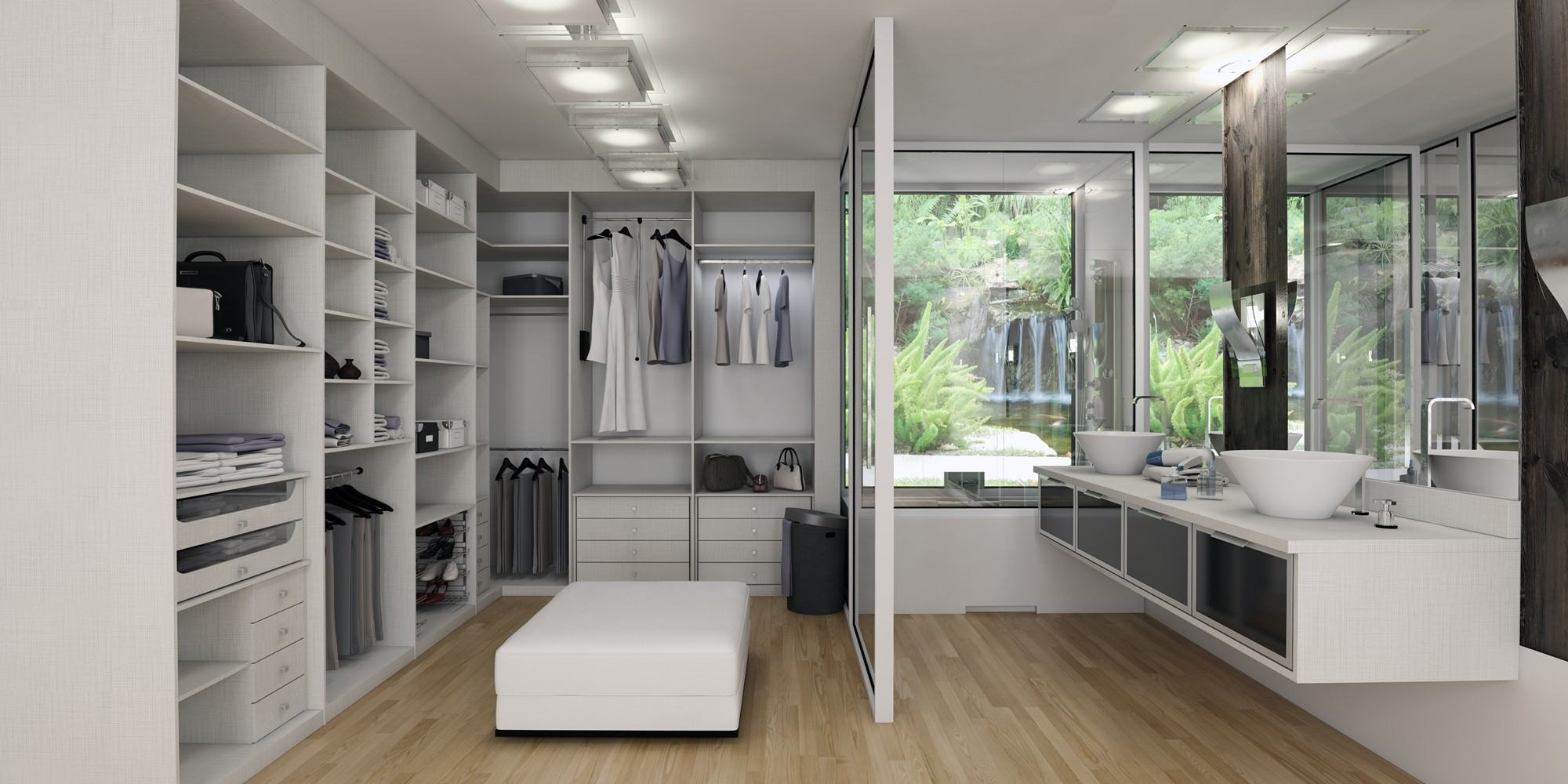 60  Closets com Banheiros Integrados – Fotos Lindas! #5E4F3C 2000 1000