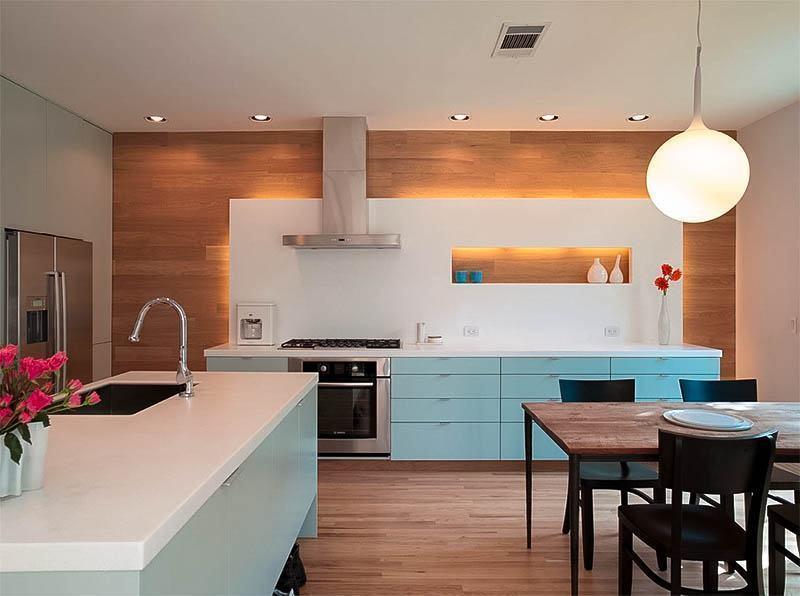Cozinha azul: utilize a tonalidade apenas nos armários