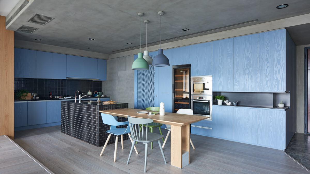 Cozinha azul: combine outras cores nos acessórios decorativos