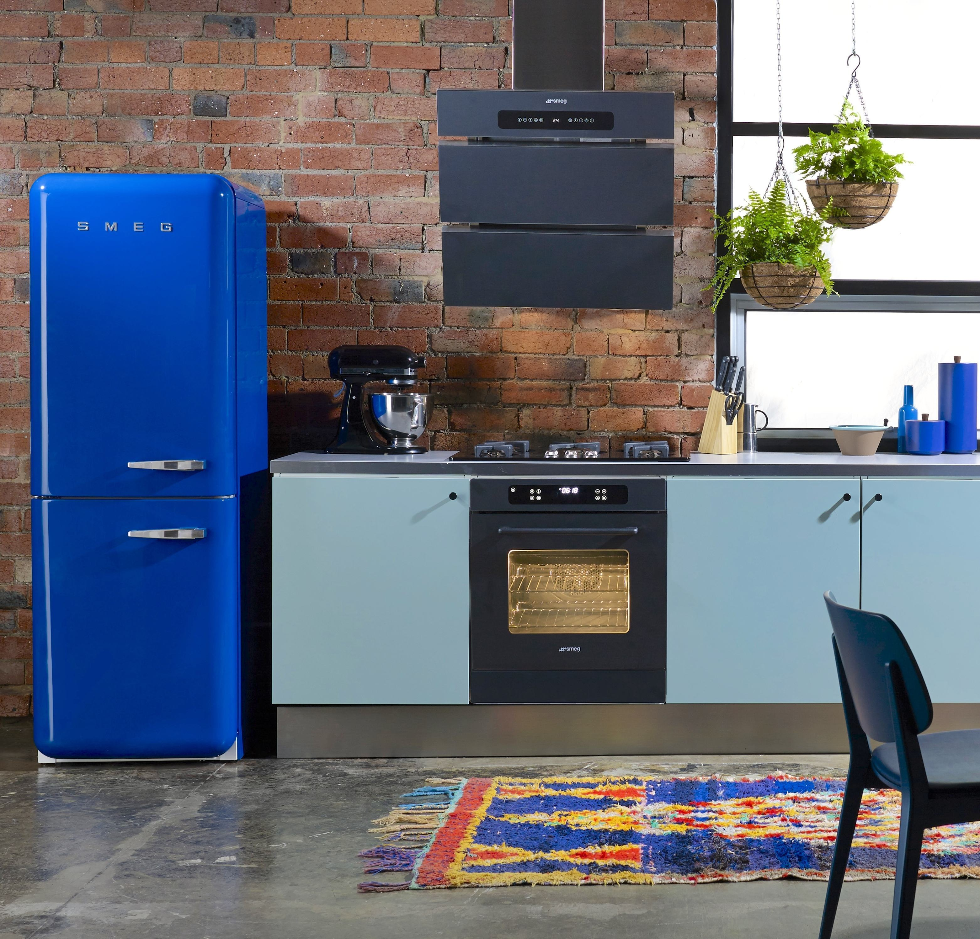 Deixe sua cozinha azul com aspecto jovial