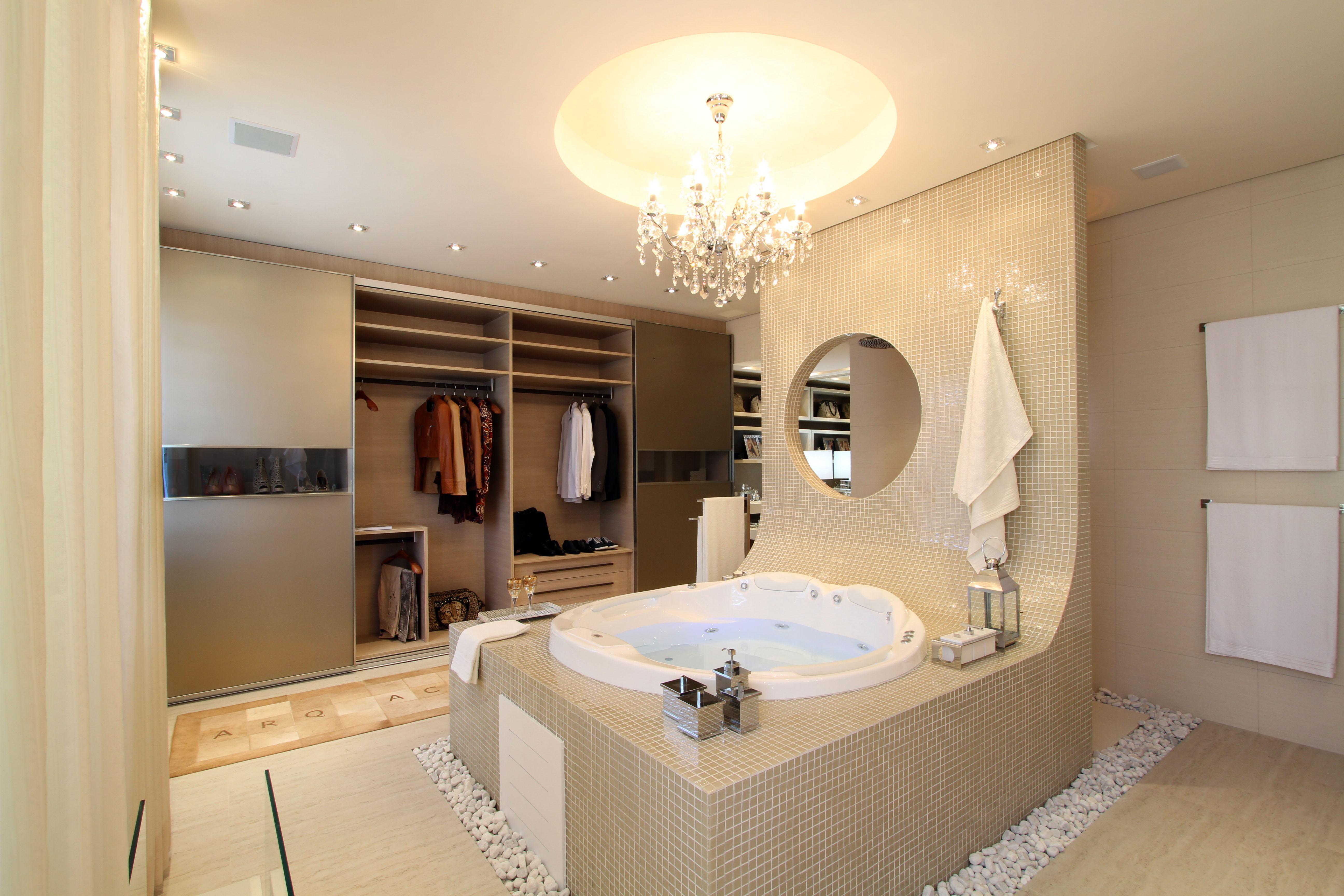 Extremamente 60+ Closets com Banheiros Integrados - Fotos Lindas! OX13
