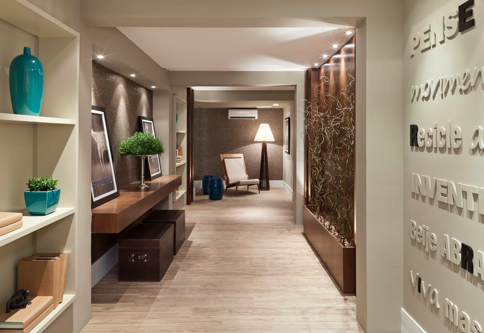Hall de entrada 60 modelos e ideias de decora o for Armarios para entradas de casa