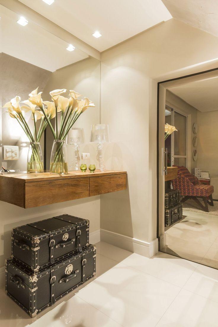 Hall de entrada 60 modelos e ideias de decora o for Mesas recibidores modernos