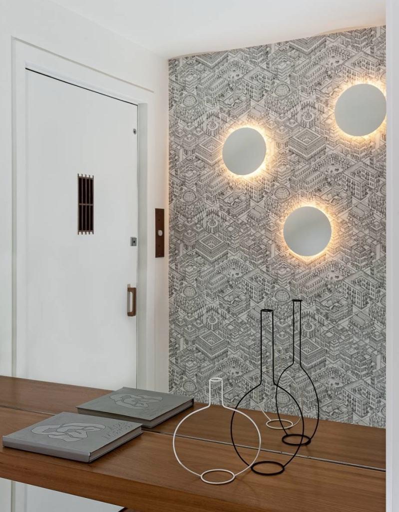 Hall de entrada 60 modelos e ideias de decora o - Papel pared entrada ...