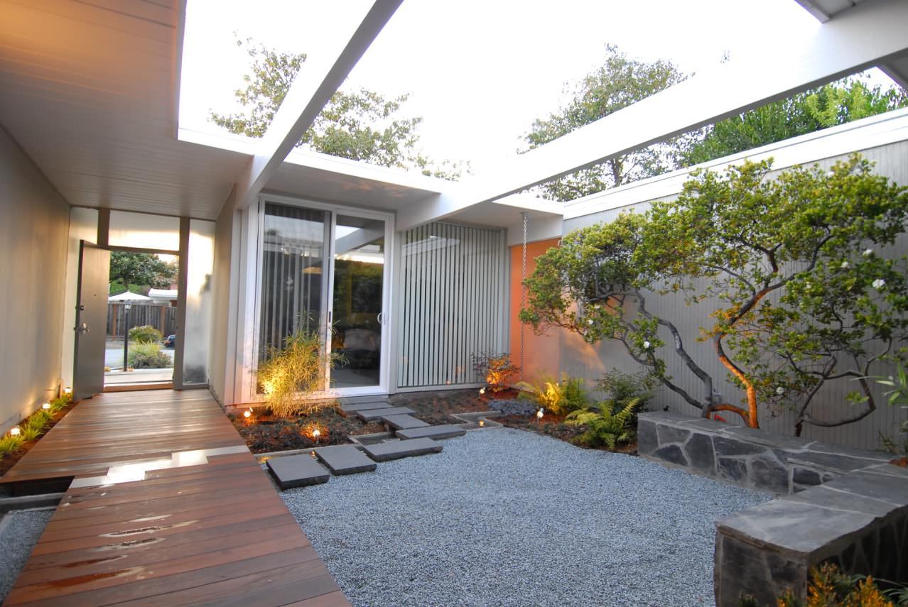 Jardim na área externa