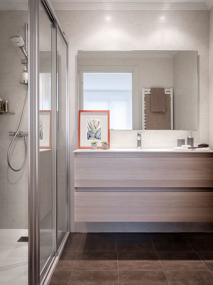 100 banheiros simples e pequenos inspiradores fotos - Azulejos ducha ...